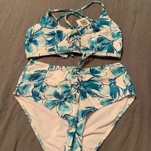 Cupshe High-Waisted Bikini NWT